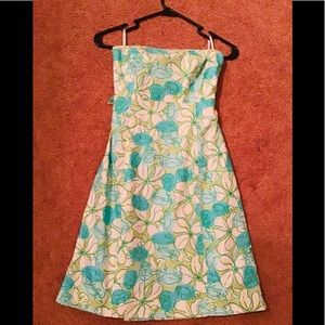 🌺🌺Lilly Pulitzer size 2 strapless dress🌼🌼